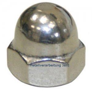 M8 Hutmutter A2 Edelstahl DIN 1587 - 10 Stück