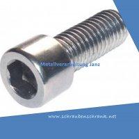 M 2.5 x 6 mm Zylinderschrauben A2 Edelstahl nach DIN 912 10 Stück