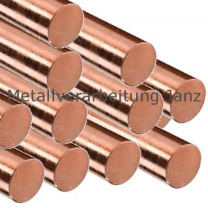 Durchmesser 20 mm Kupfer Rundstange Länge wählbar Rundstab E-Cu 57 CW 004 A Stab ziehhart CU-ETP