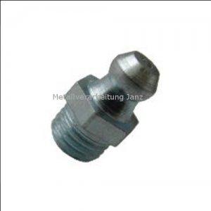 M 10x1 Fettnippel / Schmiernippel gerade verzinkt Form A (H1) / DIN71412 10 Stück