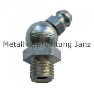 M 8x1 Fettnippel / Schmiernippel 45° / Form B (H2) / DIN71412 10 Stück