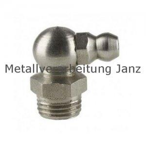 M 8x1 Fettnippel / Schmiernippel 90° / Form C (H3) / DIN71412 10 Stück