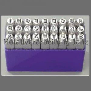 Einschlag-Buchstaben A-Z in Kunststoffbox, Schrifthöhe 5mm, L. 60mm 1 Stück