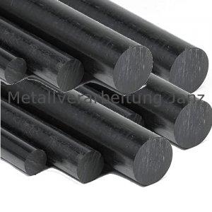 Durchmesser 30 mm Polyamid PA6 Rundstab schwarz Länge wählbar rund Kunststoff PA 6 Stab