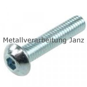 ISO 7380 Linsenschrauben m. I-6Kt. A2 Edelstahl M3 x 6 - 100 Stück