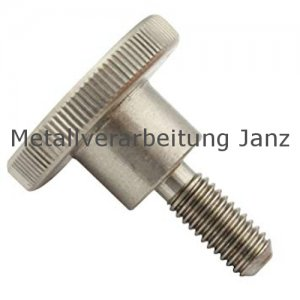 M 4x8 mm DIN 464 Rändelschrauben hohe Form, Edelstahl  50 Stück