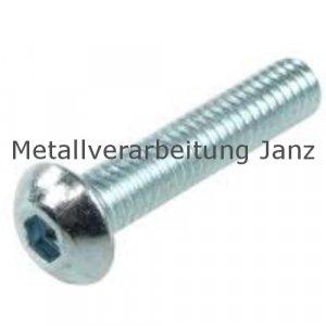 ISO 7380 Linsenschrauben m. I-6Kt. Verzinkt M3 x 20 - 200 Stück