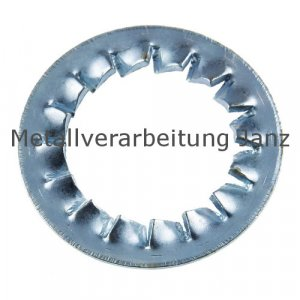 Fächerscheiben Form I DIN 6798 verzinkt 6,4mm 1.000 Stück