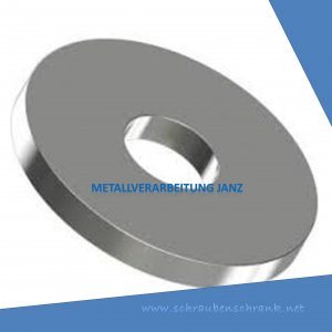 Holzbauscheiben A2 Edelstahl DIN 440/ISO 7094 für M5 (5,5x18,0x2,0mm) - 200 Stück