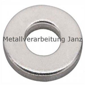 Unterlegscheiben DIN 125 Schwarz Verzinkt für M4 (4,3x9,0x0,8mm) - 100 Stück