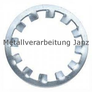 Zahnscheiben Form I DIN 6797 Verzinkt, 21,0mm 250 Stück