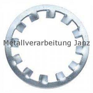 Zahnscheiben Form I DIN 6797 Verzinkt, 25,0mm 100 Stück