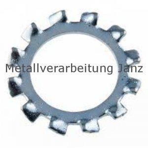 Zahnscheiben Form A DIN 6797 A2 Edelstahl, 21,0mm 100 Stück