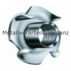 Einschlagmuttern M5x8mm A2 Edelstahl 100 Stück
