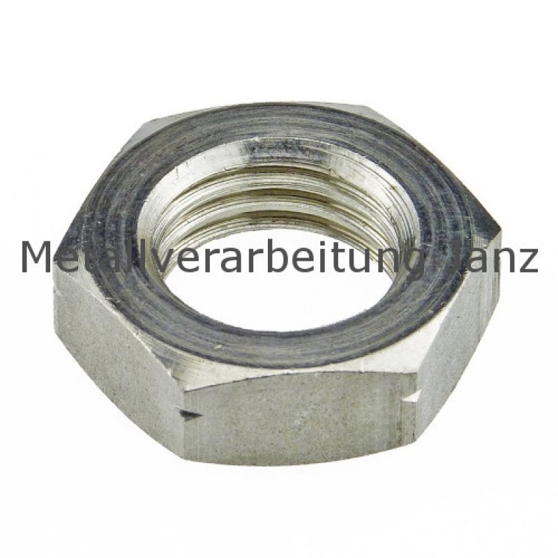 M2,3 Sechskantmuttern flache Ausführung DIN 439 A4 Edelstahl  - 1000 Stück
