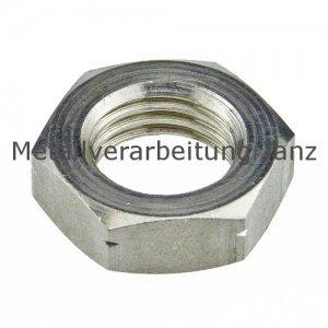M20 Sechskantmuttern niedrige Form B DIN 439 Blank  - 100 Stück