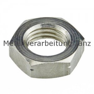 M2,5 Sechskantmuttern niedrige Form B DIN 439 verzinkt  - 100 Stück