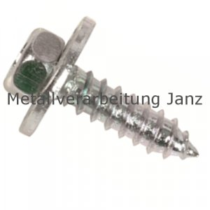 Kombi-Blechschrauben 6-kt. DIN 6901 verzinkt, 6,3 x22,0 mm 250 Stück
