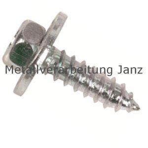 Kombi-Blechschrauben 6-kt. DIN 6901 verzinkt, 8,0 x25,0 mm 250 Stück