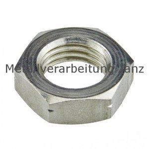 DIN 936 Feingewinde Sechskantmuttern niedrige Form M20x1,5 A2 Edelstahl - 100 Stück