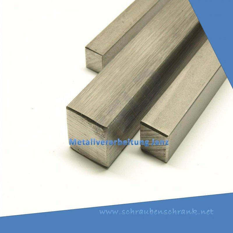 Edelstahl Vierkant VA V2A blank h11-20x20mm auf Zuschnitt 50cm L: 500mm