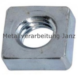 Vierkantmuttern nach DIN 562 niedrige Form M4 verzinkt - 1000 Stück