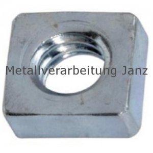 Vierkantmuttern nach DIN 562 niedrige Form M5 verzinkt - 1000 Stück
