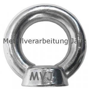 Ringmutter M6 nach DIN 582 aus A2 Edelstahl 125 Stück