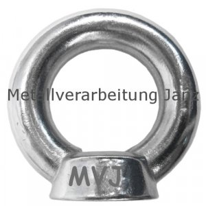 Ringmutter M20 nach DIN 582 aus A4 Edelstahl 10 Stück