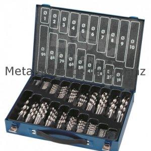170 Stück Metallkassette mit HSS Bohrer DIN 338 rollgewalzt Ø 1,0 - 10,0 Standard