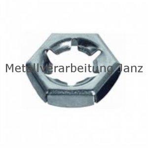 Sicherungsmuttern / Palmuttern M10 aus A2 Edelstahl DIN 7967 - 100 Stück