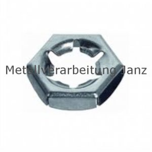 Sicherungsmuttern / Palmuttern M6 aus A4 Edelstahl DIN 7967 - 200 Stück