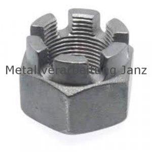 DIN 935 Kronenmuttern Verzinkt  M12- 100 Stück