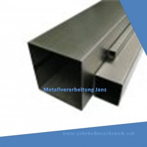Vierkantstahlrohr Hohlstahl Konstruktionsstahl 4-Kantrohr St37 Baustahl Profile 100 x 100 x 2 Stahl