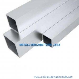 Vierkantrohr Hohlrohr Quadratrohr 4-Kantrohr Profile 80x80x2 mm Aluminium