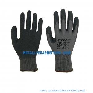 "Nylon-Latex-Handschuhe, schwarz AS 3520 , teilbeschichtet ""Nylotex"" - 1 Paar"