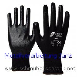 "Nylon-Latex-Handschuhe, schwarz AS 3500 , teilbeschichtet ""Nylotex"" 1 Paar"