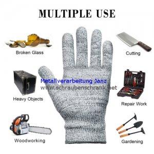 Schnittschutzhandschuhe - MYCARBON Schnittfeste Küchehandschuhe Handschuhe Schnittschutzklasse 5 EN 388 CE für Küche Baustelle Gartenbau - 1 Stück