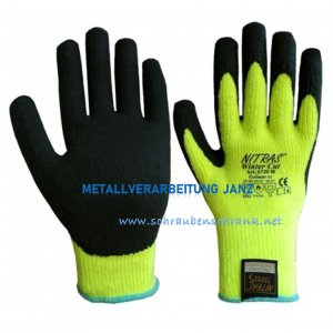 Winter-Schnittschutzhandschuhe, gelb, teilbeschichtet NITRAS 6720W - 1 Paar
