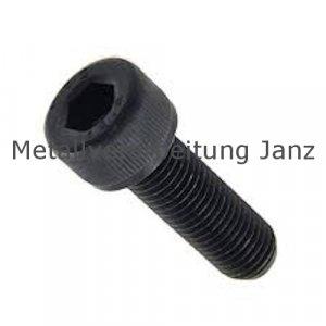 M 5 x 6 mm DIN 912 Zylinderschrauben mit ISK 10.9 blank - 500 Stück