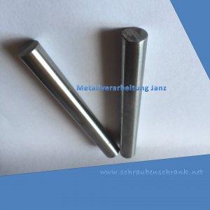 Praezisionswelle h6 in X90CrMoV18 Durchmesser 12mm  Länge 136 mm +1 , gehärtet - 1 Stück