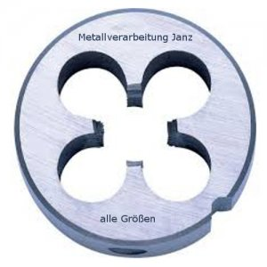 Schneideisen Linksgewinde DIN 223 B HSS-G, Gewinde M3, Steigung 0,50 mm, für Aufnahme 20x5 mm in Unibox - 1 Stück