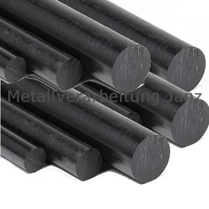 Durchmesser 8 mm POM Rundstange Stab Kunststoff schwarz Stange black round Rod