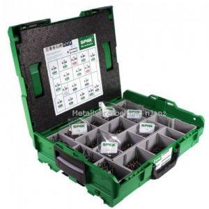 Spax- Montagekoffer L-BOXX, Senkkopf,T-STAR plus; Edelstahl A2 -1070 Stück incl. inkl. 5 BITs (1 x T10/T15/T30, 2 x T20)
