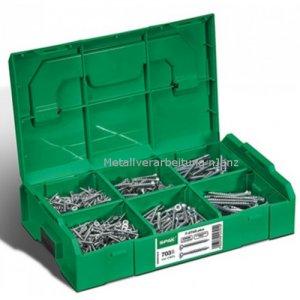 Spax- Montagekoffer L-BOXX Mini, Senkkopf, T-STAR plus, WIROX -703 Stück incl. 3 Bits T-STAR plus T20
