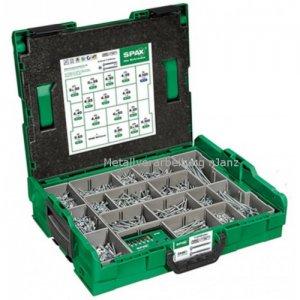 Spax- Montagekoffer L-BOXX, Senkkopf, T-STAR plus, WIROX -2.446 Stück incl. SPAX BIT check T-STAR plus