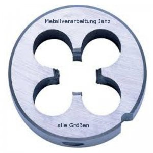 Schneideisen DIN 223 B HSS-G, Gewinde M6, Steigung 1,00 mm, für Aufnahme 20x7 mm in Unibox - 1 Stück