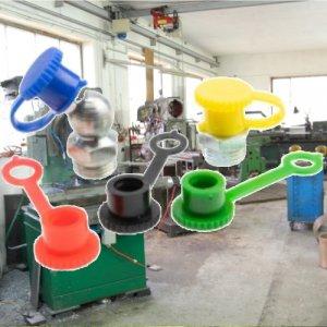 Fettnippel / Schmiernippel Schutzkappe mit Lasche DIN71412 10 Stück