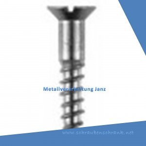 Senkkopfschrauben mit Schlitz nach DIN 97, A2 Edelstahl M 3,5x16 - 1000Stück