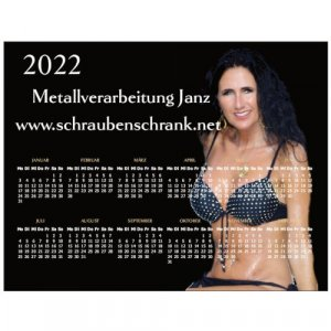 Magnetkalender 2022 mit Bürokraft Heidi Klammer